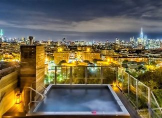 272 odgen ave townhouse dixon-jersey-city-heights crane rooftop pool night