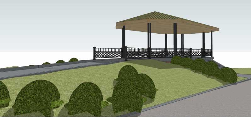 riverview park jersey city heights gazebo site plan