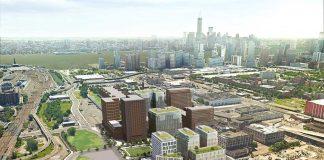 soho west jersey city aerial rendering