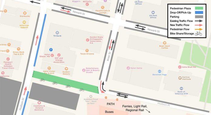 Hudson Place Pedestrian Plaza solution